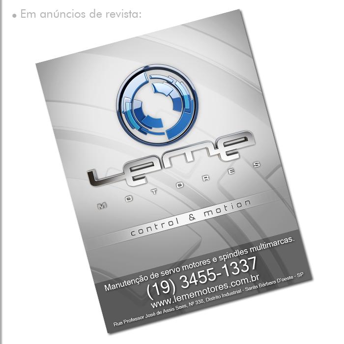 Aplicações do Logo 3D: Anúncios de Revista