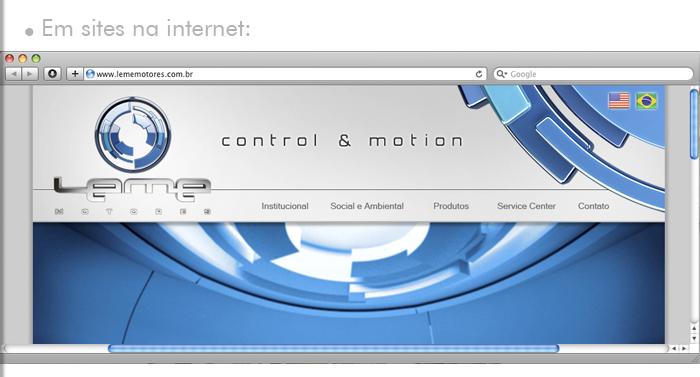 Aplicações do Logo 3D: Sites de Internet